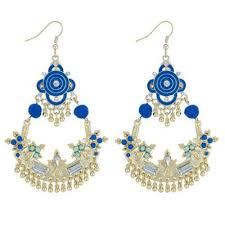womens erfly by matthew williamson designer pom pom chandelier earrings vtxwx22635