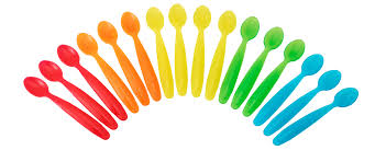 The First Years Take Toss Dishwasher Safe Infant Feeding Spoons Rainbow Colors 16 Pk Walmart Com