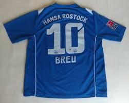 Authentic hansa rostock football shirts. Hansa Rostock 10 Breu 2008 2009 Match Worn Football Jersey Rare Soccer Shirt Ebay