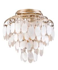 capiz shell lighting fixtures. Shown In Champagne Leaf Finish And Capiz Shell Glass Lighting Fixtures W