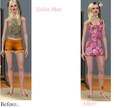 Sims Makeover: Zelda Mae by Soraply11 on DeviantArt