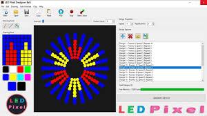 Rgb Pixel Led Ws2812 Shadow Designer Software Download Led Pixel Designer 8x8 Youtube