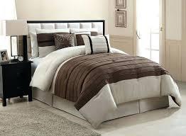 11 piece queen city loft brown and beige micro suede bed in a bag 11 piece