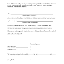 child travel with one parent consent form one parent travel consent form lukex co intended for sample