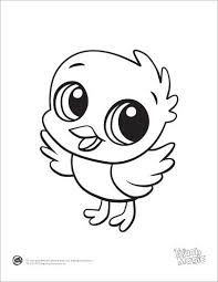 animal coloring worksheets 2.  Worksheets Baby Animal Drawings Cartoon On Coloring Pages Inside Worksheets 2 G
