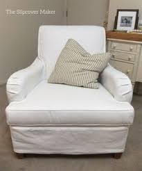 cal washable slipcover for english rolled arm chair in white carr go canvas
