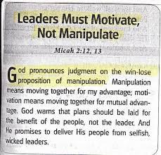 Motivate Leadership Trinity Kings World Leadership Leaders Must Motivate Not Manipulate