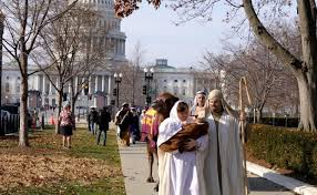 Christians stage live nativity outside Supreme Court, US Capitol to show religious freedom is alive