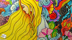 how to draw doodle with zentangle flowers doodling art