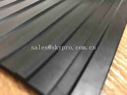 black 5mm thick wide ribbed rubber mats great wall broad corrugated rubber sheets