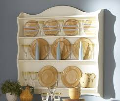 Exquisite Kitchen Decoration With Wooden Plate Rack Wall Mounted :  Astounding Decoration In Kitchen Interior With