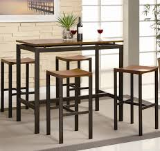 dining table with bar stools throughout atlus contemporary style black brown counter height set w decor 4