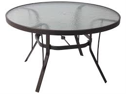 suncoast cast aluminum 42 round glass top dining table 42kd