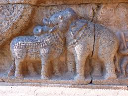 wood stone monument statue elephant bull sculpture art temple india carving relief stone carving ancient history