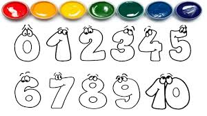 Small Picture Drawing Numbers Learn 0 to 10 Coloring Page Learn Colors