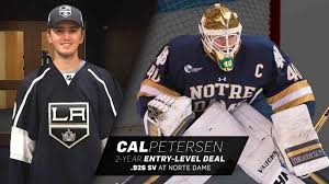Cal Petersen Agrees To Entry Level Deal With La Kings
