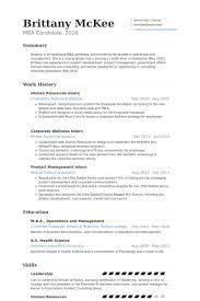 Human Resources Intern Resume samples