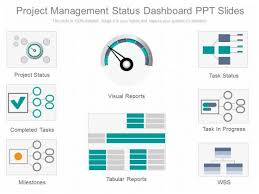Project Status Slide Project Management Status Dashboard Ppt Slides Powerpoint