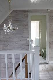 knotty pine walls rustic stairs