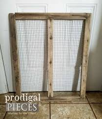 old barn screen before makeover by prodigal pieces prodigalpieces com