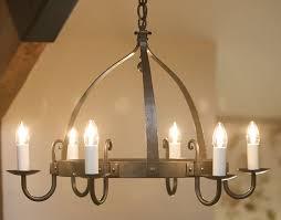 mitre 6 light wrought iron chandelier