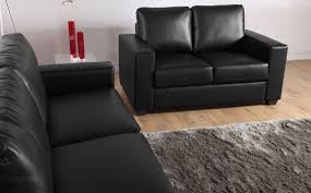 appealing black leather sofa 2 seater mission black leather sofa suite 32 seater only 59998