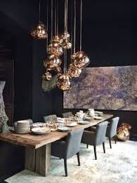 home lighting ideas. Tom Dixon Copper Shade From The Melt Family Lamp (free-form Polycarbonate Sculptural Shade, Squashed And Stretched) : At Azul Tierra, Barcelona. Home Lighting Ideas T