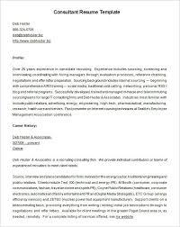 Recruitment Consultant Resume Template Free Download