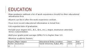What To Include In Education Section Of Resume Prose Examples And