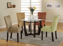 glass top round dining table. Engaging Dining Room Decoration Using Glass Top Table Design : Enchanting Small Round