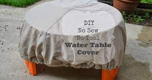 diy no sew no tool water table cover
