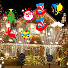 Decorative Outfit Christmas Lights Christmas Decorations For Home Outdoor Projector Snowflake