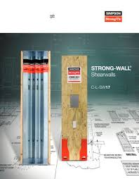 strong wall shearwalls simpson