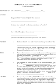 The tenancy agreement is the contract that governs the relationship between landlord and tenant. Free Alberta Residential Tenancy Agreement Form Pdf 45kb 8 Page S