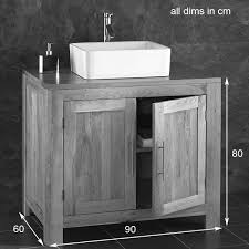 solid oak double door bathroom basin cabinet with portici stone basin solid oak cabinet technical drawing