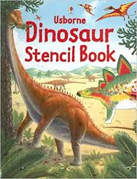 usborne dinosaur stencil book stencil books board book january 1 2006