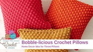 Crochet Pillow Patterns Beauteous Crochet Bobblelicious Pillow Tutorial The Crochet Crowd