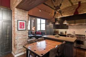 Exposed Brick Kitchen Articles With Exposed Brick Chimney Kitchen Tag Exposed Brick
