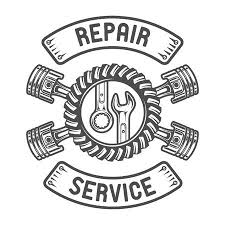 auto repair clip art. Simple Clip Repair Service Gears Wrenches And Pistons Auto Emblem Illustration Throughout Clip Art