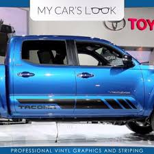 Toyota TACOMA 2016 TRD sport side stripe graphics decal | Toyota ...