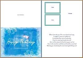 Card Word Template Birthday Card Template Word With Birthday Card Template Word Card 13
