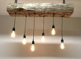 wood and metal orb chandelier wood