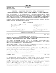brand management resume template