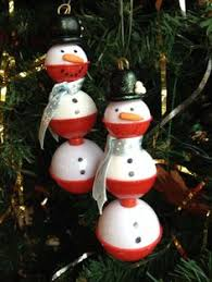 New Fishing Bobber Fish Lure Christmas Ornament Glass ...
