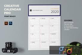 Photoshop Calendar Template 2020 Creative Calendar Pro 2020 Ljaf67b Freepsdvn