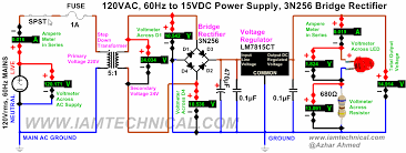 circuit diagram 15v dc power supply the wiring diagram 120 vac to 15 vdc regulated power supply using voltage regulator wiring diagram
