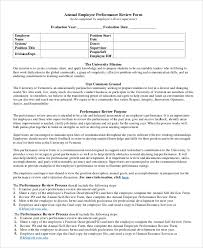 Employee Performance Assessment Examples Performance Review Example 8 Samples In Pdf Word