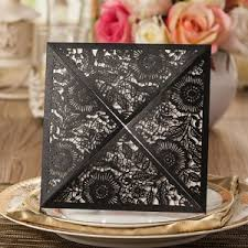 shop black and white wedding invitations online Black Elegant Wedding Invitations elegant black floral laser cut wedding invitations ewws015 black and white elegant wedding invitations