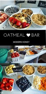 Oatmeal Bar with all of the topping ideas. List of the best oatmeal  combination ideas