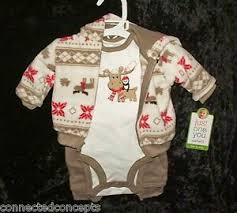 Details About Christmas Carters Warm Cozy Winter Toddler 3 Pc Outfit Size 24 Months New